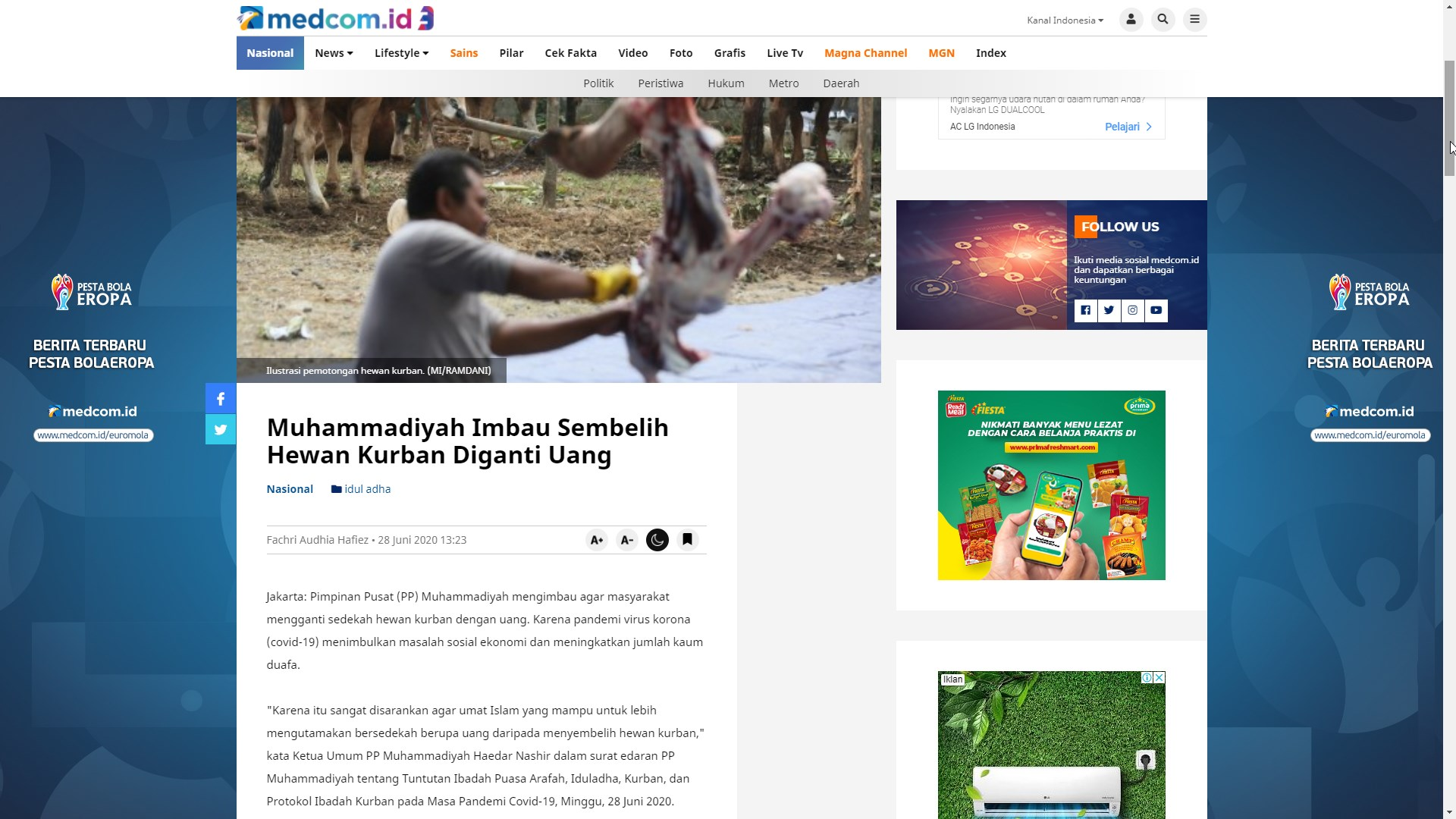 Sumber: https://www.medcom.id/nasional/peristiwa/ZkeBxx7K-muhammadiyah-imbau-sembelih-hewan-kurban-diganti-uang